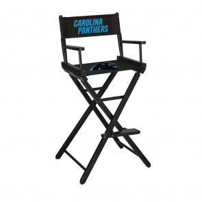 Carolina Panthers Directors Chair Bar Height