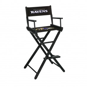 Baltimore Ravens Directors Chair Bar Height