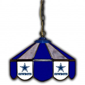 Dallas Cowboys 14-Inch Glass Pub Lamp