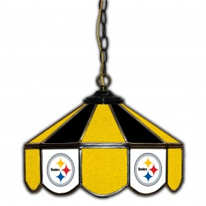 Pittsburgh Steelers 14-Inch Glass Pub Lamp