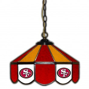 San Francisco 49ers 14-Inch Glass Pub Lamp