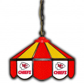 Kansas City Chiefs 14-Inch Glass Pub Lamp