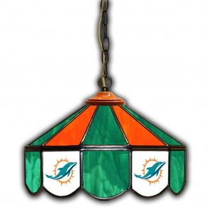 Miami Dolphins 14-Inch Glass Pub Lamp
