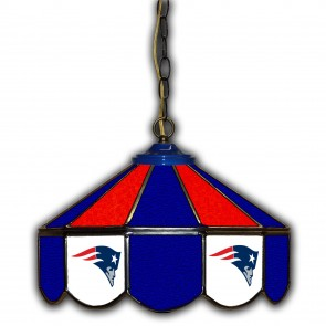 New England Patriots 14-Inch Glass Pub Lamp