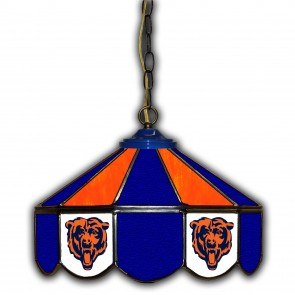Chicago Bears 14-Inch Glass Pub Lamp