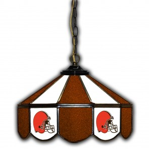 Cleveland Browns 14-Inch Glass Pub Lamp