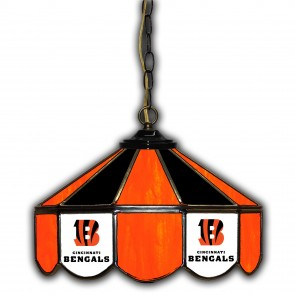 Cincinnati Bengals 14-Inch Glass Pub Lamp