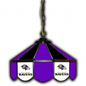 Baltimore Ravens 14-Inch Glass Pub Lamp