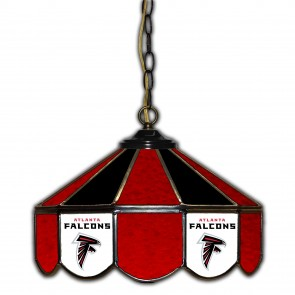 Atlanta Falcons 14-Inch Glass Pub Lamp
