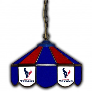 Houston Texans 14-Inch Glass Pub Lamp