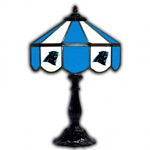 Carolina Panthers 21-Inch Glass Table Lamp