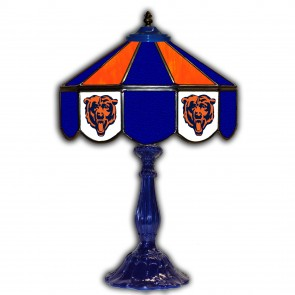 Chicago Bears 21-Inch Glass Table Lamp