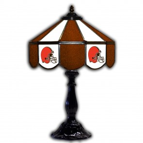 Cleveland Browns 21-Inch Glass Table Lamp