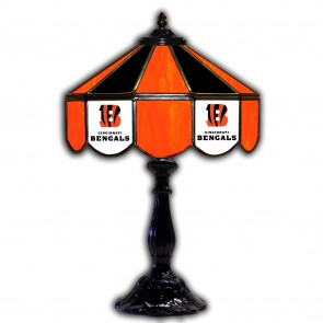 Cincinnati Bengals 21-Inch Glass Table Lamp