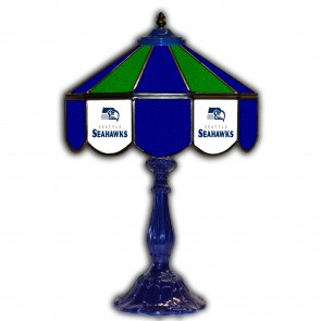 Seattle Seahawks 21-Inch Glass Table Lamp