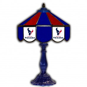 Houston Texans 21-Inch Glass Table Lamp