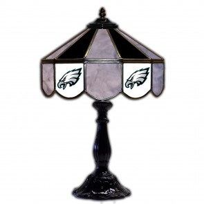 Philadelphia Eagles 21-Inch Glass Table Lamp