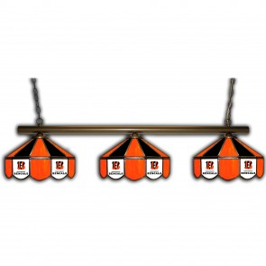 Cincinnati Bengals 3 Shade Glass Lamp