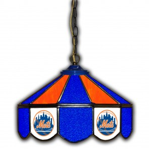 New York Mets 14-Inch Glass Pub Lamp