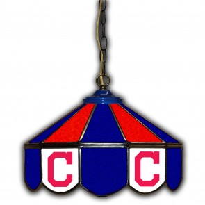 Cleveland Indians 14-Inch Glass Pub Lamp