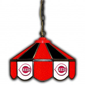 Cincinnati Reds 14-Inch Glass Pub Lamp