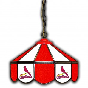St. Louis Cardinals 14-Inch Glass Pub Lamp