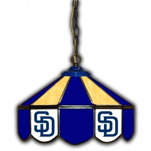 San Diego Padres 14-Inch Glass Pub Lamp