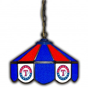 Texas Rangers 14-Inch Glass Pub Lamp