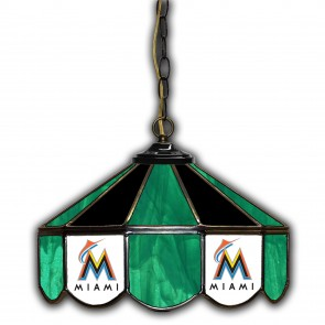 Miami Marlins 14-Inch Glass Pub Lamp