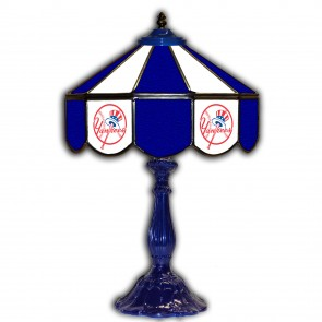 New York Yankees 21-Inch Glass Table Lamp
