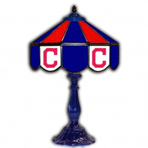 Cleveland Indians 21-Inch Glass Table Lamp