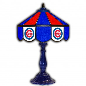 Chicago Cubs 21-Inch Glass Table Lamp