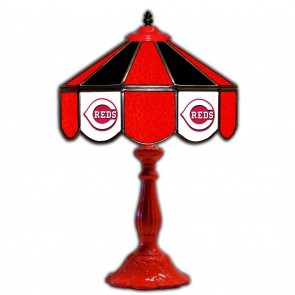 Cincinnati Reds 21-Inch Glass Table Lamp
