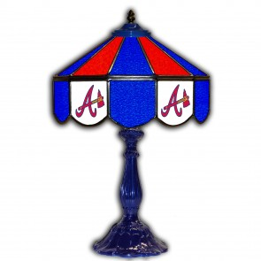 Atlanta Braves 21-Inch Glass Table Lamp