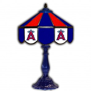 Los Angeles Angels 21-Inch Glass Table Lamp