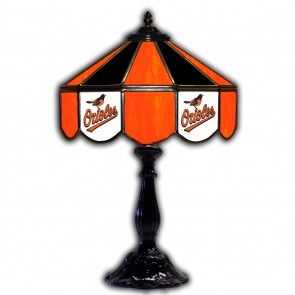 Baltimore Orioles 21-Inch Glass Table Lamp