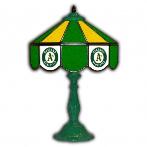 Oakland Athletics 21-Inch Glass Table Lamp