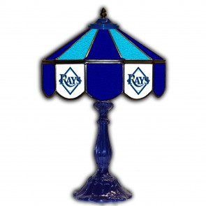 Tampa Bay Rays 21-Inch Glass Table Lamp