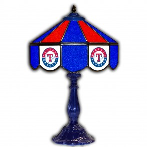 Texas Rangers 21-Inch Glass Table Lamp