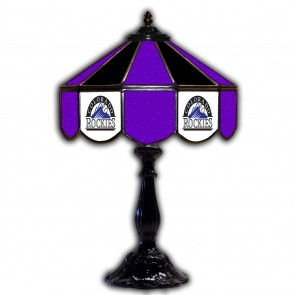 Colorado Rockies 21-Inch Glass Table Lamp
