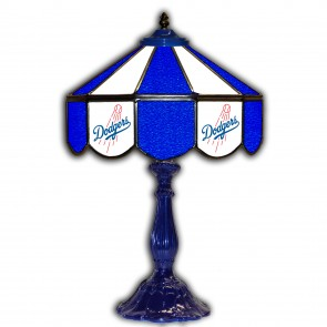 Los Angeles Dodgers 21-Inch Glass Table Lamp