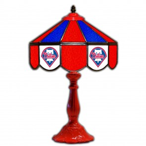 Philadelphia Phillies 21-Inch Glass Table Lamp