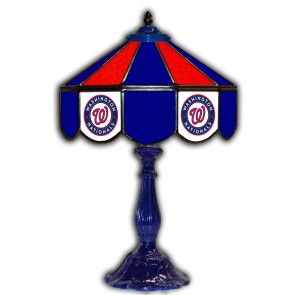 Washington Nationals 21-Inch Glass Table Lamp
