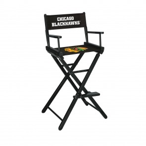 Chicago Blackhawks Directors Chair Bar Height
