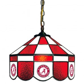 "Alabama Script A 14"" Executive Swag Hanging Lamp"