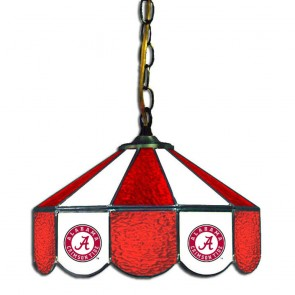 "Alabama Script A 14"" Swag Hanging Lamp"