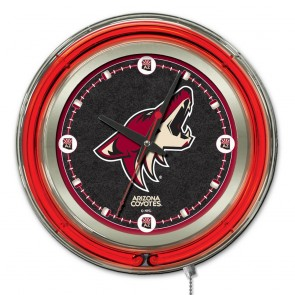 Arizona Coyotes 15-Inch Neon Clock