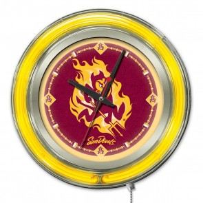 Arizona State Sparky 15-Inch Neon Clock
