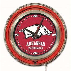 Arkansas 15-Inch Neon Clock