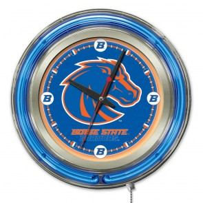 Boise State 15-Inch Neon Clock